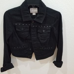 Forever21 black Jean jacket with studs
